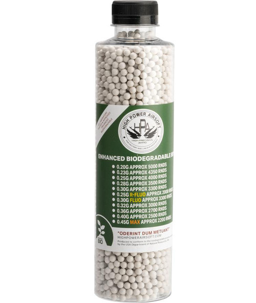 High Power Airsoft (HPA) US Lab Tested Precision Biodegradable 6mm Airsoft BBs (Weight: .28g / 3500rds)