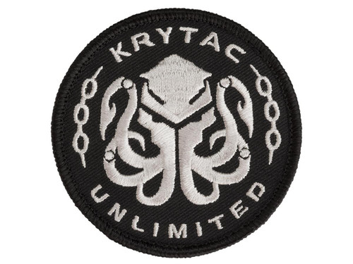 Krytac Embroidered Hook and Loop Morale Patch - Black