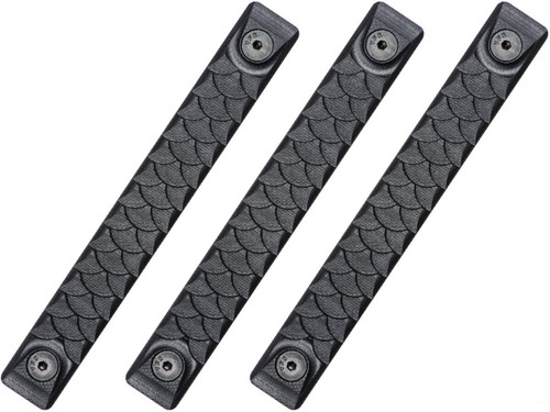 RailScales HTP Scales for Accessory Handguards (Model: Black / Keymod / Dragon / 3 Pack / 5 Slot)