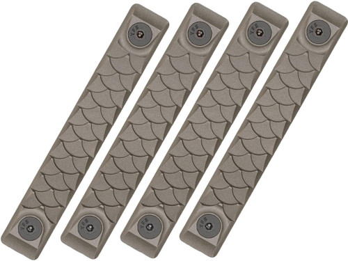 RailScales HTP Scales for Accessory Handguards (Model: OD Green / M-LOK / Dragon / 4 Pack / 2.5 Slot)