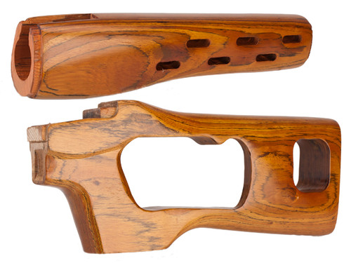 High Grade Real Wood Handguard & Stock Kit for A&K & Comp. SVD Spring Series Sniper Rifles - USED