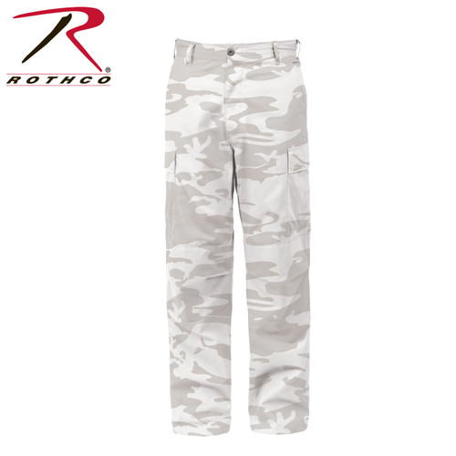 Rothco Color Camo Tactical BDU Pants - White Camo