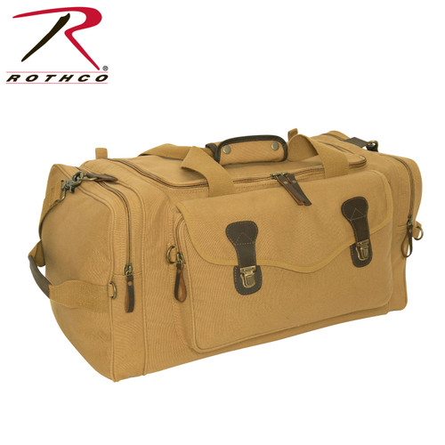 Rothco Canvas Long Weekend Bag - Coyote Brown