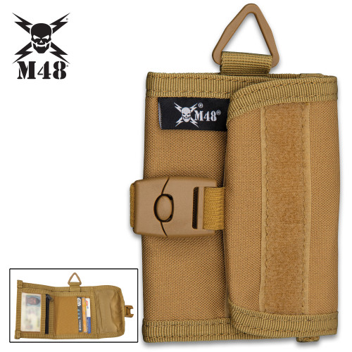 M48 OD Canvas Wallet With Buckle