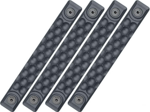 RailScales HTP Scales for Accessory Handguards (Model: Sniper Grey / M-LOK / Honeycomb / 4 Pack / 2.5 Slot)