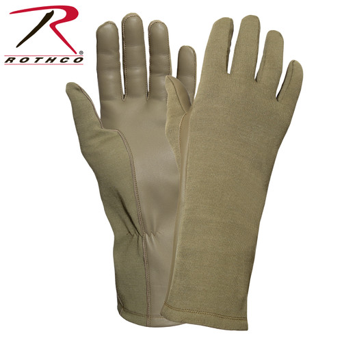G.I. Type Flame & Heat Resistant Flight Gloves - AR 670-1 Coyote Brown
