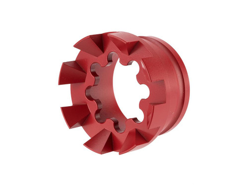Unique AR Sprocket Handguard End Cap with Spikes (Color: S&W Red)