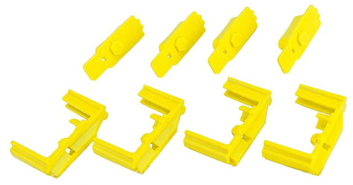 Hexmag HexID Color System (4x Hexgon Latchplates / 4x Followers) for Real Hexmag AR Magazines (Color: Hazard Yellow)