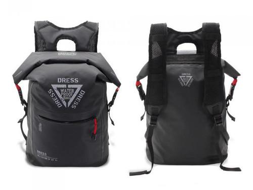 """DRESS """"AIR"""" 25L Waterproof Roll-top Backpack (Color: Black & Red)"""