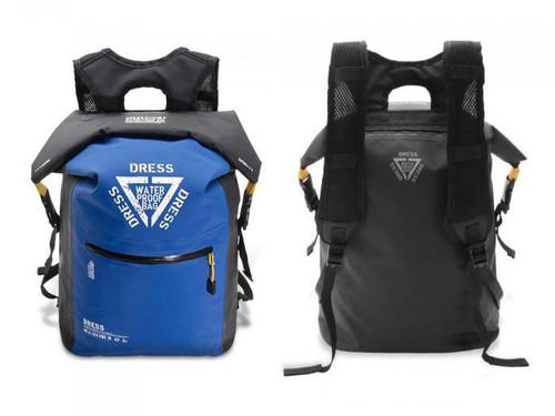 """DRESS """"AIR"""" 25L Waterproof Roll-top Backpack (Color: Blue & Black)"""