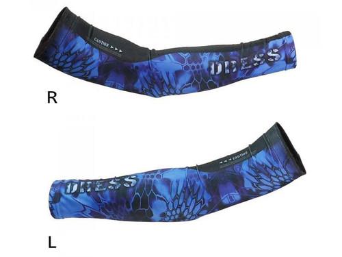 DRESS Cool Arm Covers (Color: Blue / L-XL)