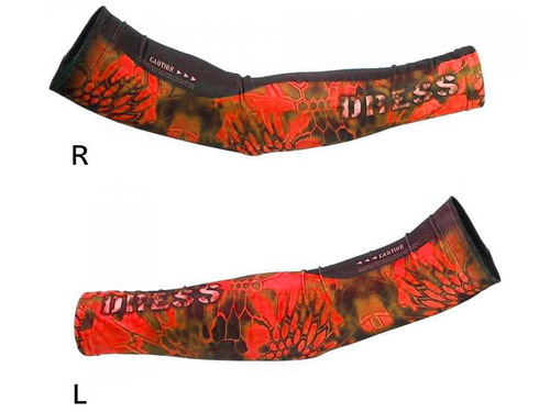 DRESS Cool Arm Covers (Color: Red / L-XL)
