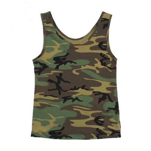 Hero Brand Men's Camouflage Tank Top - Woodland
