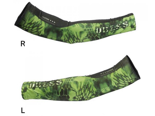 DRESS Cool Arm Covers (Color: Green / S-M)