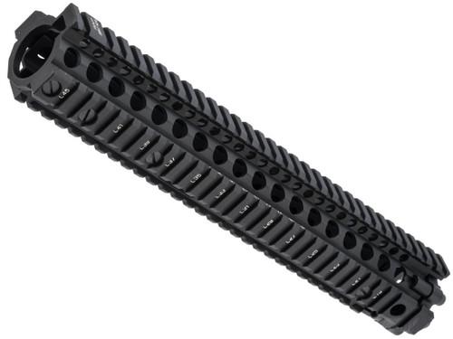 Bolt Airsoft Licensed Daniel Defense M4A1 RIS II Airsoft CNC Aluminum Handguard (Color: Black)