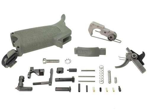 BCM Gunfighter ELPK Enhanced Lower Parts Kit for AR-15 Rifles (Color: Foliage Green)