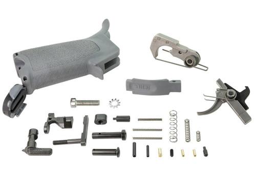 BCM Gunfighter ELPK Enhanced Lower Parts Kit for AR-15 Rifles (Color: Wolf Gray)
