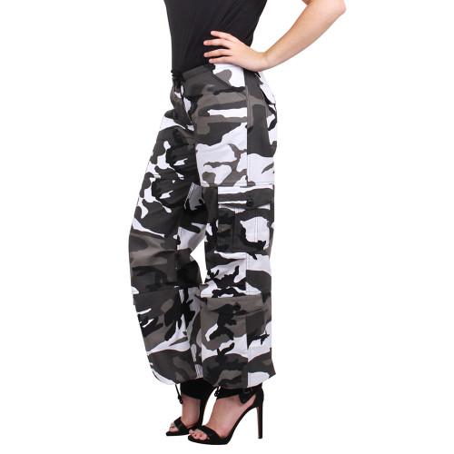 Hero Brand  Women's Vintage Paratrooper Pants - Urban Camo