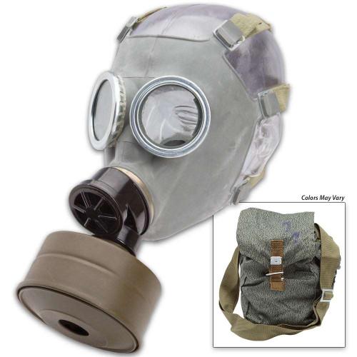 Polish MC-1 Gas Mask w/ Filter and Camo Bag