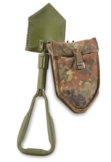 German Tri-Fold Shovel w/Flectarn Cover