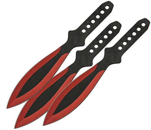 Throwing Knife Set Red