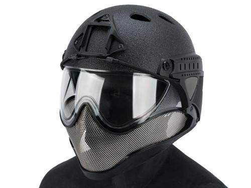 "WARQ Full Face Protection ""Raptor"" Helmet System (Color: Black / Clear Lens)"