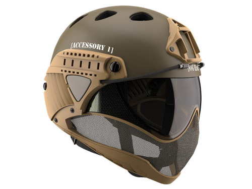 WARQ Custom Full Face Protection Helmet System (Color: Labeled / Clear Lens)