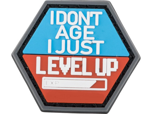"""""""Operator Profile PVC Hex Patch"""" Geek Series - I Dont Age I Just Level Up"""