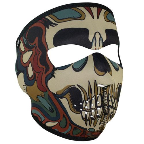 ZAN Neoprene Full Face Mask - Psychedelic Skull