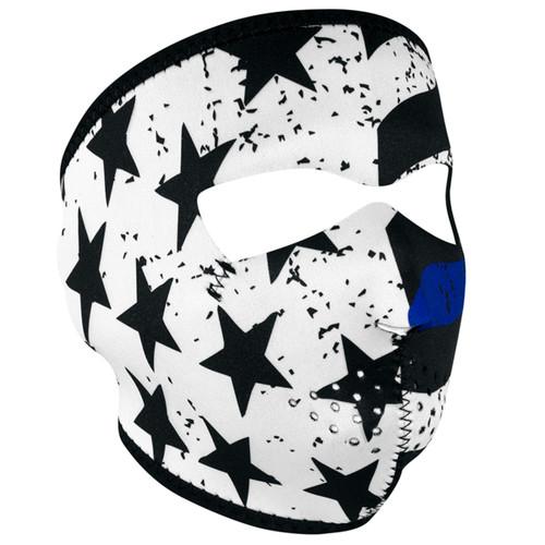 ZAN Neoprene Full Face Mask - Thin Blue Line Full Mask
