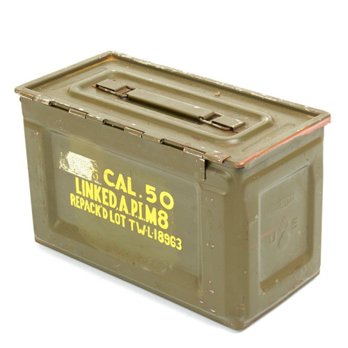 50 Cal Ammo Can - Side Open