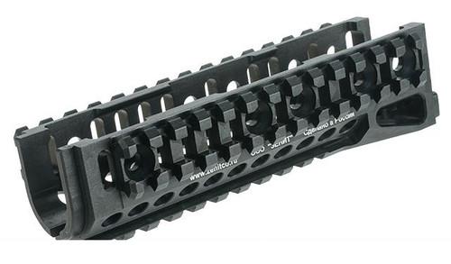 Zenimei CNC Aluminum B-10M Tactical Railed Handguard for AK AEG / GBB Rifles - Black