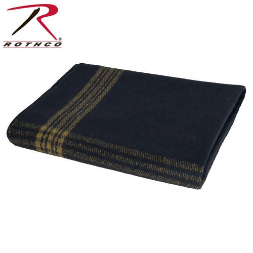 Rothco Navy w/Gold Stripe Wool Blanket