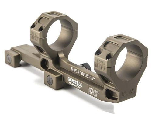 GEISSELE Automatics Super Precision Scope Mount for AR15 / M4 Rifles - Hyper Extended 30mm / Desert Dirt Color