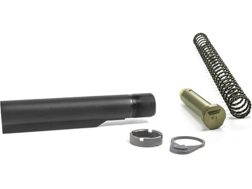 Geissele Automatics Premium 7075-T6 Aluminum Mil-Spec Buffer Tube Assembly w/ Super 42 Spring & H1 Buffer for M4 / AR15 Rifles - Black