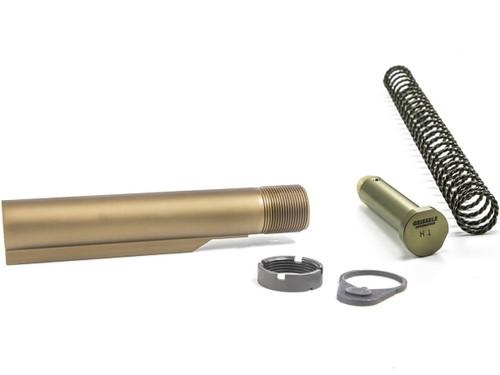 Geissele Automatics Premium 7075-T6 Aluminum Mil-Spec Buffer Tube Assembly w/ Super 42 Spring & H1 Buffer for M4 / AR15 Rifles - DDC Desert Dirt Color