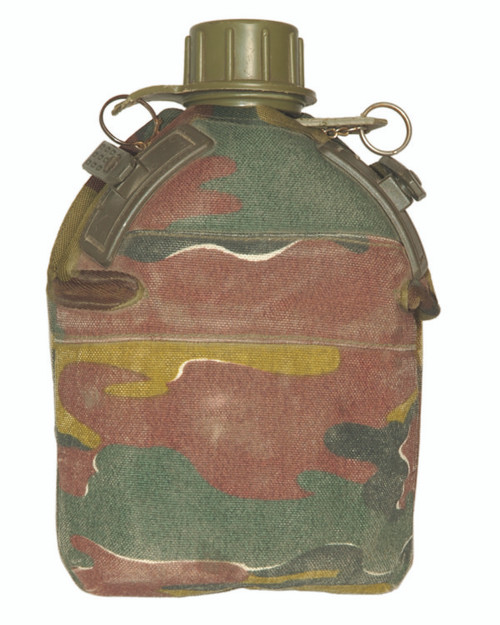 Belgium Armed Forces Plastic Canteen W/ Camo Cover