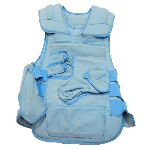 Stratos Blue Kevlar Vest w/2-Plates