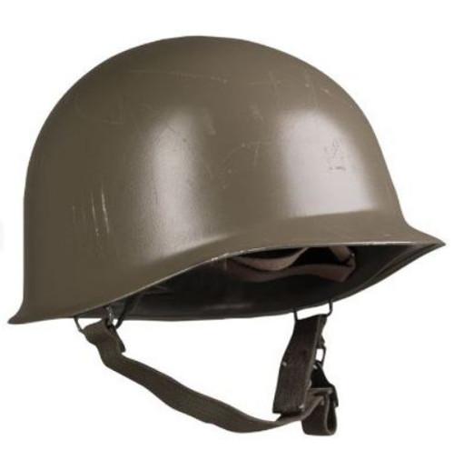 Austrian OD M1 Steel Helmet w/Liner