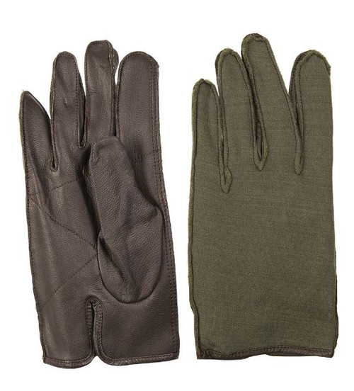 Belgium Brown/OD Leather Gloves
