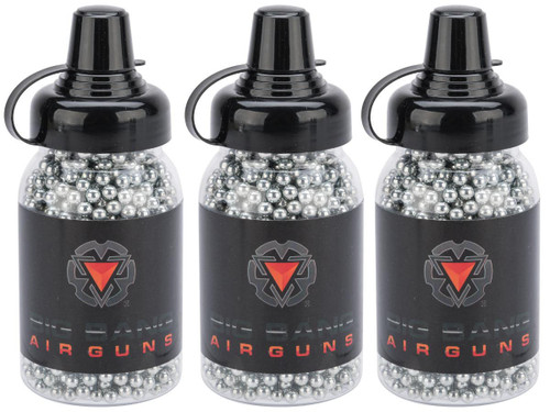 Big Bang Airgun 4.5mm / .177 cal Steel BB - Bottle - Zinc Plated / 1500rd - 3 Pack