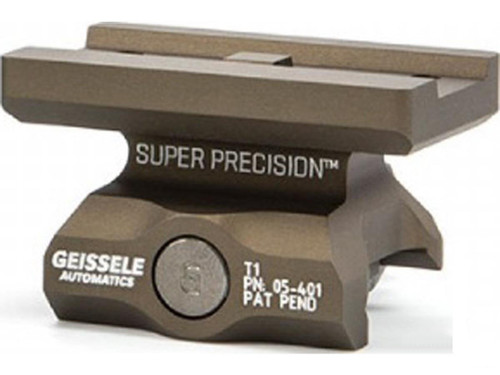 Geissele Automatics Super Precision Aimpoint Micro T1 Optic Mount - Desert Dirt / Absolute Co-Witness