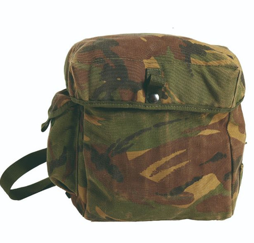 British Armed Forces Camo Gas Mask Bag W/Strap