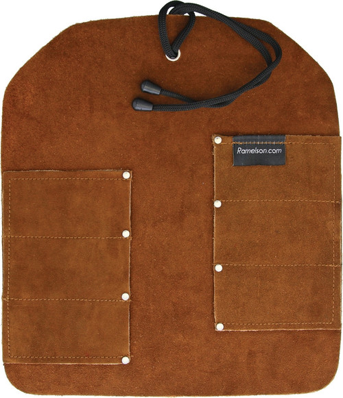 Six Pocket Leather Tool Roll