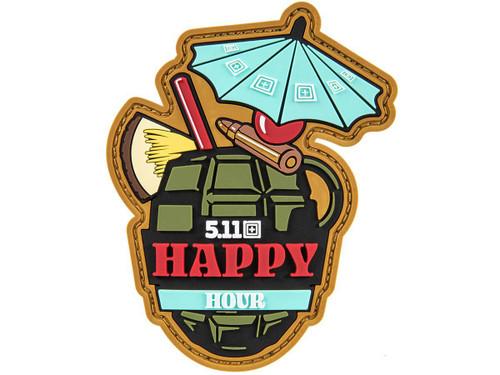"5.11 Tactical ""Happy Hour"" Hook & Loop PVC Morale Patch"