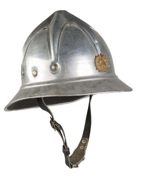 Bulgarian Armed Forces Aluminum Fireman Helmet