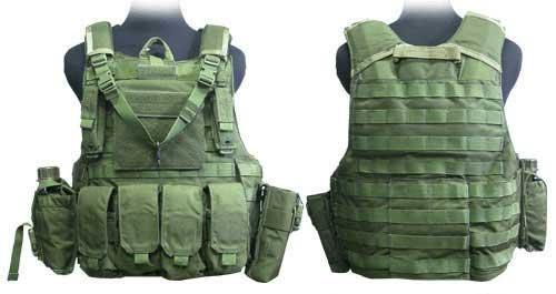 Phantom CORDURA 1000 Denier Force Recon Tactical Vest Full Set - Olive Drab