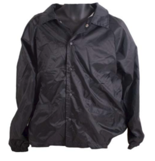 Hero Brand Unlined Coaches Security Jacket - Black