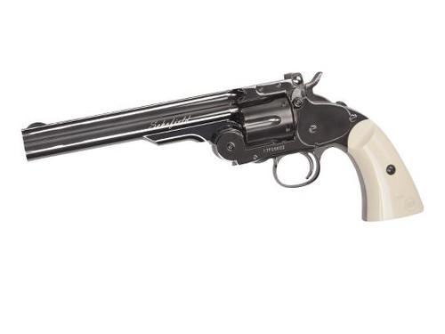 "Schofield 6"" Airgun - Plated Steel GY & Ivory Grip"