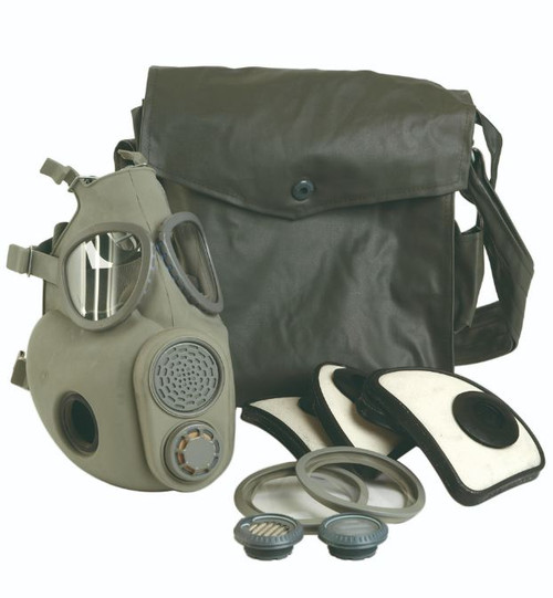 Czech M10 Gas Mask W/Filters (Bag Not Included)